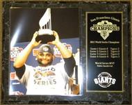 Pablo Sandoval San Francisco Giants 2012 World Series Champions MVP Trophy 12x15 Plaque