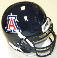 Arizona Wildcats BLUE Schutt NCAA College Football Authentic Team Mini Helmet