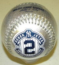 Derek Jeter New York Yankees #2 Silver Captain 2014 Final Season Retirement Rawlings Official Collectible Major League Baseball