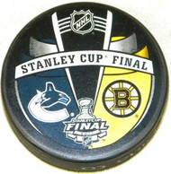 Boston Bruins vs. Vancouver Canucks 2011 NHL Stanley Cup Final Match-Up Hockey Puck
