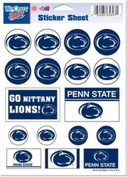 "Penn State Nittany Lions Team Logo Wincraft 5"" x 7"" Vinyl Sticker Sheet w/ 17 Stickers"