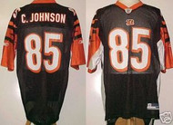 Chad Johnson Cincinnati Bengals Black Custom Reebok Licensed Mesh Souvenir Jersey Size XL