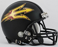 Arizona State Sun Devils BLACK Riddell NCAA Replica Mini Helmet