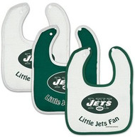 New York Jets NFL Football WinCraft Baby Bibs Set of 3