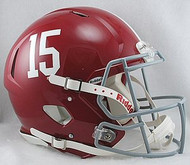 Alabama Crimson Tide #15 Riddell NCAA Authentic Revolution SPEED Pro Line Full Size Helmet