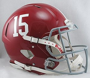 the latest 7fc05 56c83 Alabama Crimson Tide #15 Riddell NCAA Authentic Revolution ...