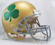 Notre Dame Fighting Irish Shamrock Riddell NCAA Collegiate Authentic Pro Line Full Size Helmet