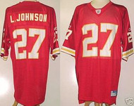 Larry Johnson Kansas City Chiefs Red Custom Reebok Licensed Mesh Souvenir Jersey Size XL