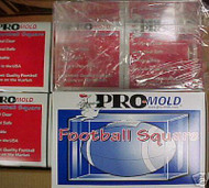 Pro Mold Football Square Holder Protection Display Case of 4