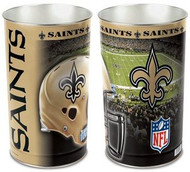 New Orleans Saints NFL Team Logo Wincraft Metal Tapered Wastebasket Trash Can