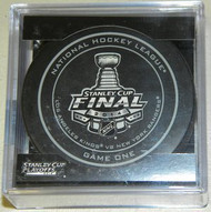 2014 Stanley Cup Finals Game 1 NHL Hockey Official Game Puck Los Angeles Kings vs. New York Rangers