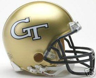 Georgia Tech Yellow Jackets Riddell NCAA College Replica 6-Pack Mini Helmet Set