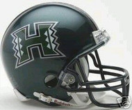 Hawaii Rainbow Warriors Riddell NCAA College Replica Green 6-Pack Mini Helmet Set