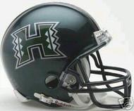 Hawaii Rainbow Warriors Riddell NCAA College Replica Green 6-Pack Mini Helmet Set