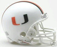 Miami Hurricanes Riddell NCAA College Replica 6-Pack Mini Helmet Set