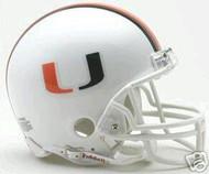 Miami Hurricanes Riddell NCAA College Replica 6-Pack Mini Helmet Set