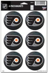 Philadelphia Flyers NHL Team Logo Wincraft Magnet 6-Pack