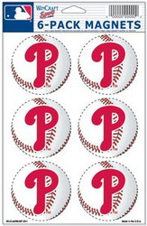Philadelphia Phillies MLB Team Logo Wincraft Magnet 6-Pack