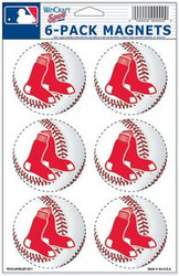 Boston Red Sox MLB Team Logo Wincraft Magnet 6-Pack