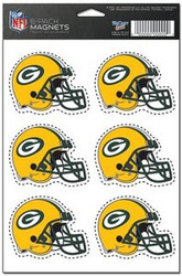 Green Bay Packers NFL Team Logo Wincraft Magnet 6-Pack