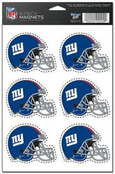 New York Giants NFL Team Logo Wincraft Magnet 6-Pack