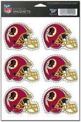 Washington Redskins NFL Team Logo Wincraft Magnet 6-Pack