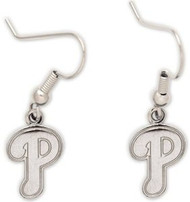 "Philadelphia Phillies Wincraft Sports Hanging MLB Team ""P"" Logo Earrings"