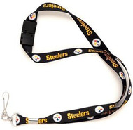 Pittsburgh Steelers Wincraft Sports NFL Team Logo Reversible Breakaway Clip Lanyard