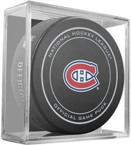 Montreal Canadiens NHL Team Sher-Wood Official Ice Hockey Game Puck - Current Logo