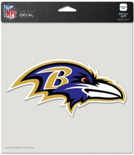 "Baltimore Ravens NFL Team Logo Wincraft 8"" x 8"" Die Cut Full Color Decal"
