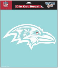 "Baltimore Ravens NFL Team Logo Wincraft 8"" x 8"" Die Cut Clear Decal"