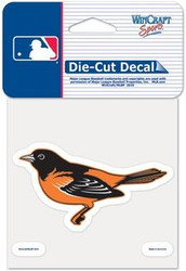 "Baltimore Orioles MLB Team Logo Wincraft 4"" x 4"" Die Cut Full Color Decal"