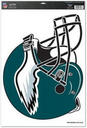 Philadelphia Eagles NFL Team Helmet Logo Wincraft Sports 11x17 Ultra Decal