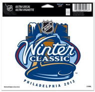 "2012 NHL Winter Classic Wincraft 4.5"" x 6"" Full Color Ultra Decal Cling Philadelphia 2012"