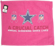 "Dallas Cowboys WinCraft McArthur 17.5""x16"" A Crucial Catch Breast Cancer Awareness Pink Towel"