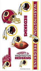 Washington Redskins NFL Team Logo Wincraft Temporary Tattoos Sheet
