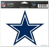 "Dallas Cowboys NFL Team Logo Wincraft 5"" x 6"" Full Color Ultra Decal Cling"