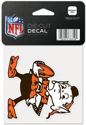 "Cleveland Browns NFL Team Logo Wincraft 4"" x 4"" Die Cut Full Color Decal"