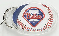 Philadelphia Phillies Team Logo Wincraft Acrylic Oval Key Ring
