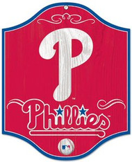 "Philadelphia Phillies MLB Team Logo Wincraft 11""x13"" Hardboard Wood Sign"
