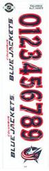 Columbus Blue Jackets Sportstar Officially Licensed Authentic Center Ice NHL Hockey Helmet Decal Kit #1