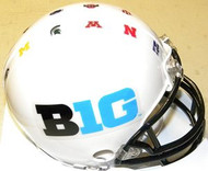 Big Ten Conference Riddell NCAA Replica Mini Helmet - Leaders Illinois Indiana Ohio State Penn State Purdue Wisconsin Legends Iowa Michigan Michigan State Minnesota Nebraska Northwestern