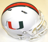 Miami Hurricanes Riddell NCAA Authentic Revolution SPEED Pro Line Full Size Helmet