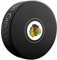 Chicago Blackhawks NHL Team Logo Autograph Model Hockey Puck - Current Logo