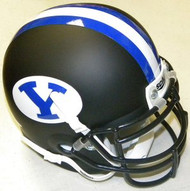 BYU Brigham Young Cougars Alternate Black Schutt NCAA College Football Authentic Team Mini Helmet