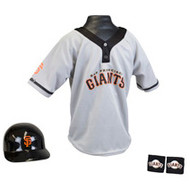 San Francisco Giants Franklin Youth MLB Kids Team Helmet, Jersey & Wristband Set