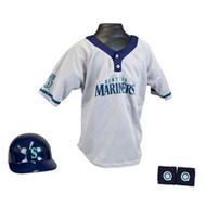 Seattle Mariners Franklin Youth MLB Kids Team Helmet, Jersey & Wristband Set