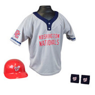 Washington Nationals Franklin Youth MLB Kids Team Helmet, Jersey & Wristband Set
