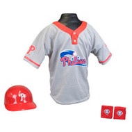 Philadelphia Phillies Franklin Youth MLB Kids Team Helmet, Jersey & Wristband Set
