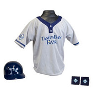 Tampa Bay Rays Franklin Youth MLB Kids Team Helmet, Jersey & Wristband Set